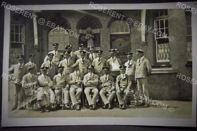 WW1 Auxiliary Hospital - Wounded Soldiers inc Machine Gun Corps etc  RP Postcard