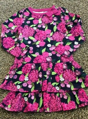 NWT Gymboree Girls Plum Pony Floral Fall Flower Knit Ruffle Size 6