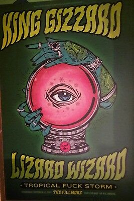 King Gizzard and the Lizard Wizard Fillmore Poster 2017