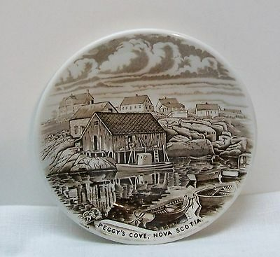 Atlantic Canada Peggy's Cove Nova Scotia Plate Wood & Sons Collector Series