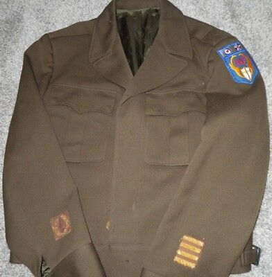 WWII US Desert Air Force DAF Officer's Ike Jacket Uniform Bullion Patches