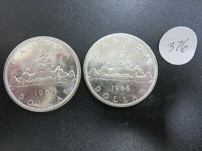 2 1966 Canadian Dollars UNC