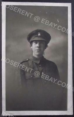 WW1  Inniskilling Fusiliers Sweetheart in Uniform- Belfast  -Real Photo Postcard