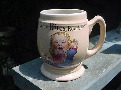 "1960s ""Drink Hires Rootbeer / Root Beer"" Mug or Stein ~ NICE!"