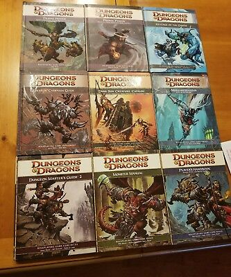Dungeons and Dragons BIG book module guide D&D  Monster manual DM 9 lot Master