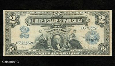 Series 1899 U.S. $2 Large Size Silver Certificate in Good Condition