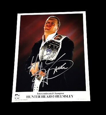 Wwe Triple H Hand Signed Autographed Promo Photo With Coa 1 Very Rare