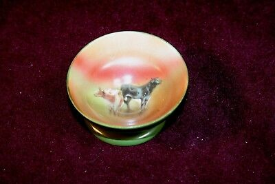 Outstanding RARE Royal Bayreuth Footed Open Salt - Cows