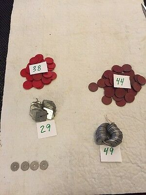 Vintage 160  Colorado Sales Tax Tokens 4 Different Types 4 Utah Inc.