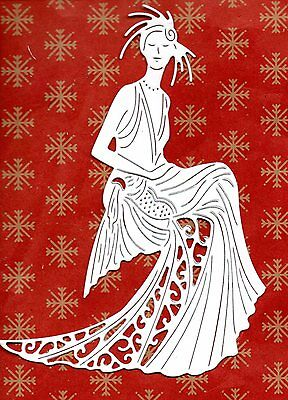 New Tattered Lace Daphne  Die Cuts -  Lady Topper-/art Deco/girl/mother/