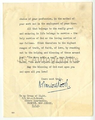 Bramwell Booth - Second General of The Salvation Army (1912–1929) Signed Letter