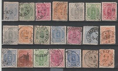 Finland 21 old stps used Nice cancels