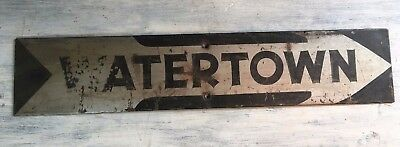 Original 1900's WATERTOWN  NY Street Road Sign Metal True Vintage