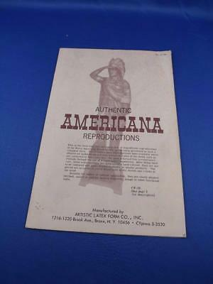 Authentic Americana Reproductions Catalog Cigar Store Indian Carousel Horse