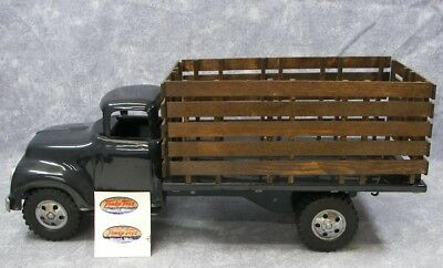 TONKA 1955 #860-5 Stake Truck~Dark Navy Blue & Custom Made Stake Bed~ Preowned