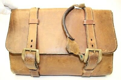 Hand Crafted Vintage Patina Distressed Leather Briefcase Attache Case Bag ka