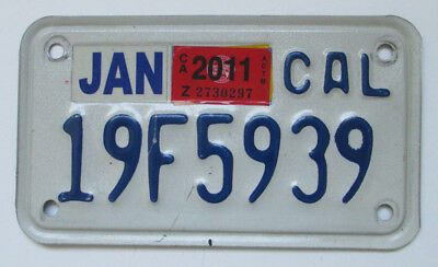 California State Motorcyle License Plate Collectible; 19F5939 - CAL (2011)