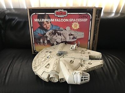 Vintage 1979 Kenner Star Wars MILLENNIUM FALCON Empire Strikes Back Toy With Box