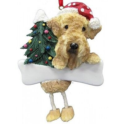 Airedale Terrier  ~ Dangling Ornament #57