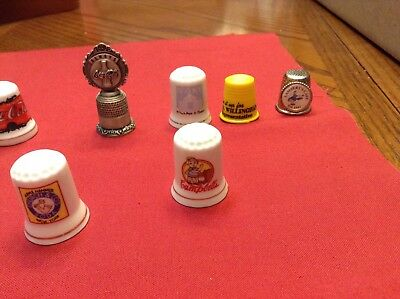 ADVERTISING THIMBLES! FROM ESTATE SALE LARGE COLLECTION! 10 (ten) DIFFERENT!