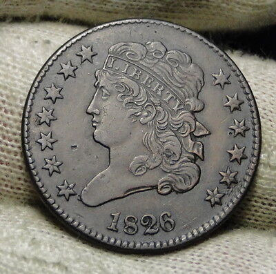 1826 Classic Head Half Cent - Very Nice Coin - Rare, Only 234,000 Minted (6571)