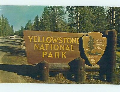 Pre-1980 YELLOWSTONE National Park Wyoming WY HJ7554