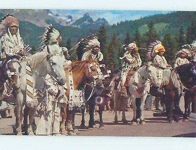 Unused Pre-1980 NATIVE INDIANS ON HORSEBACK hn1516