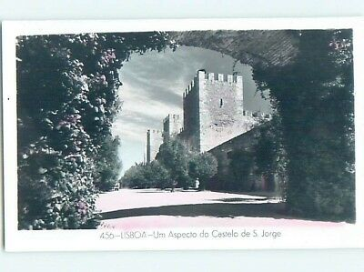 old rppc LARGE BUILDING WITH TOWERS Lisbon - Lisboa Portugal HM1768