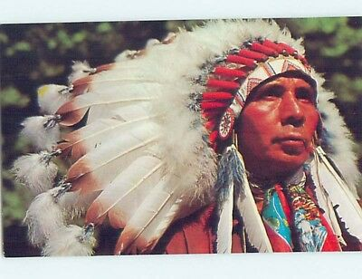 Unused Pre-1980 NATIVE INDIAN CHIEF hn0605