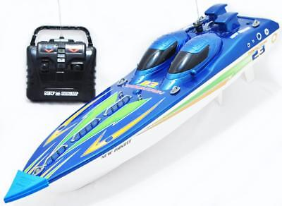 """NEW BRIGHT 23"""" 9.6v 27 MHz FULL FUNCTION RADIO CONTROLLED RC FOUNTAIN SPEED BOAT"""