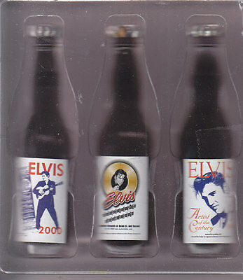 Elvis Presley Minature Pepsi Cola Bottles Set Of Three Released In Graceland