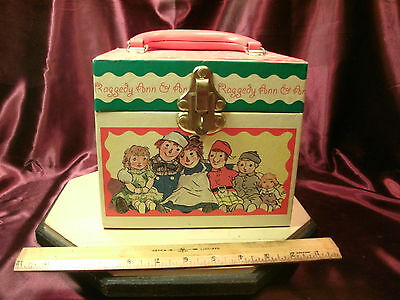 Vtg HTF Raggedy Ann and Andy Jewelry Box/case-1998 Simon & Schuster-free ship