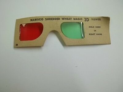 Old Advertising Cereal Premium Nabisco Shredded Wheat Magic 3D Viewer Glasses
