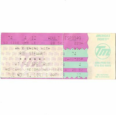 ROD STEWART Concert Ticket Stub PHILADELPHIA 11/9/93 FACES A NIGHT TO REMEMBER