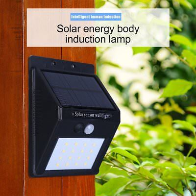 16 LED Solar Power Sensor Wall Light Motion IP65 Weatherproof Outdoor Lamp TK#