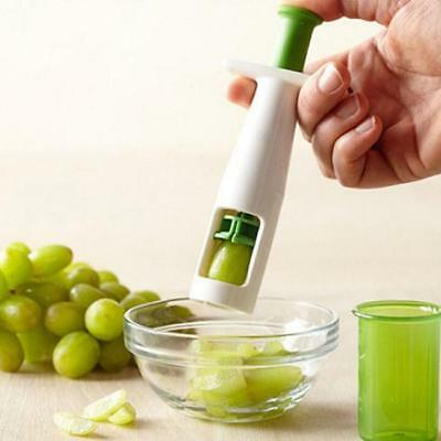 Eco-Friendly Grips Grape Tomato Cherry Slicer Vegetable Fruit Cutter Tools Q