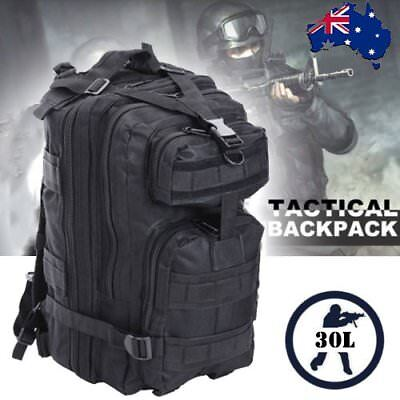 30L Outdoor Hiking Camping Bag Army Military Tactical Rucksack Backpack Trekking