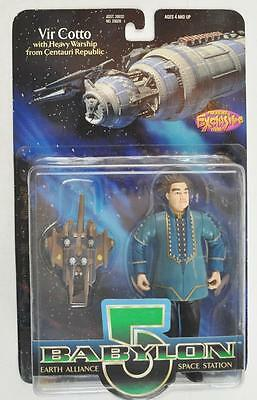 Babylon 5 1997 Vir Cotto Action Figure w/ Heavy Warship from Centauri Republic