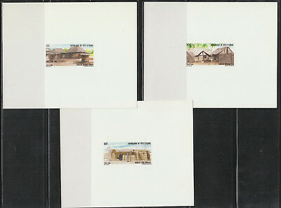 Ivory Coast #802-04 MNH Deluxe Sheets 1988 Traditional Houses SUPERB!