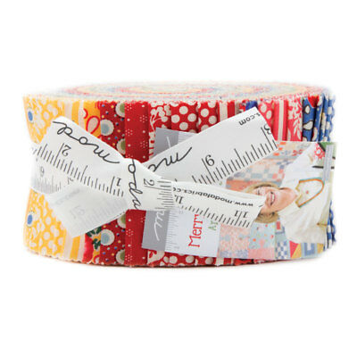 New! Merry Go Round Jelly Roll By American Jane For Moda Quilt Fabrics