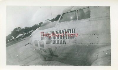 WWII photo- 100th BG- Boeing B-17 Bomber plane Nose Art -ANDY'S DANDY'S
