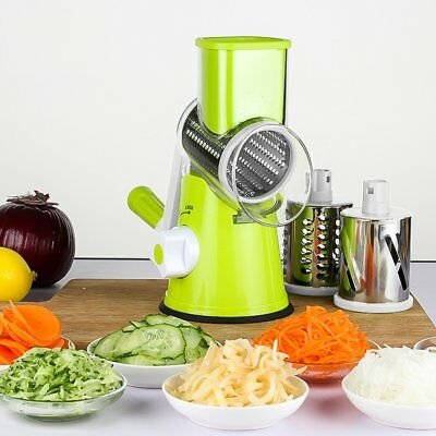 Multifunctional Vegetable Shredder Rotary Grater Slicer Roller Shape Handle GS