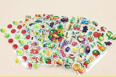 Classic cartoon sticker 3D stereoscopic flower/vegetable 6 sheets/lot kids gifts