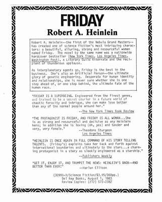 Three promotional postcards for ROBERT HEINLEIN books from 1982 and 1984.