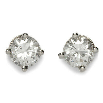 FLAWLESS BRILLIANT STUD EARRING 0,50 CT Diamond Solitaire White Gold