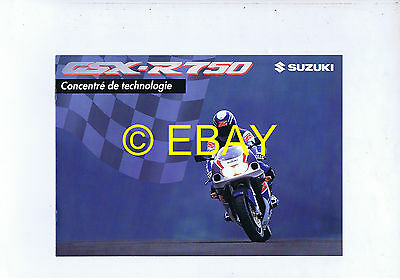 Catalogue Suzuki GSX-R750 1996 (France)