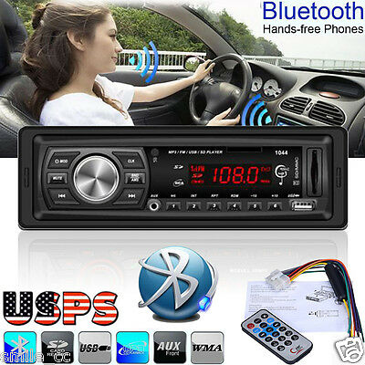 Bluetooth Car Stereo Audio 1 DIN In-Dash FM Aux Input Receiver SD MP3 Radio