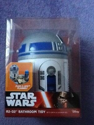 Star Wars R2D2 Bathroom Tidy Gift Set with Shower Gel and C3PO Flannel