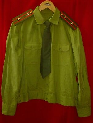 Russian Soviet Army Infantry Major Uniform Shirt + Tie Size 50 S USSR