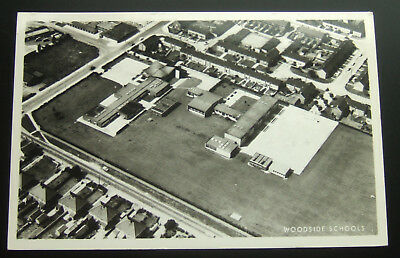 Postcard Real Photo Aerial Shot : Woodside Schools - Unknown Location, England